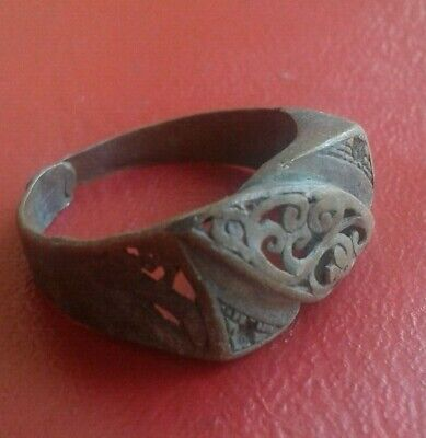 rare ancient ring bronze roman legionary artifact antique original