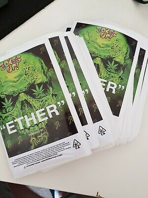 100x Runtz Ether Mylar Bag LABELS ONLY (3.5g) Cali Tin