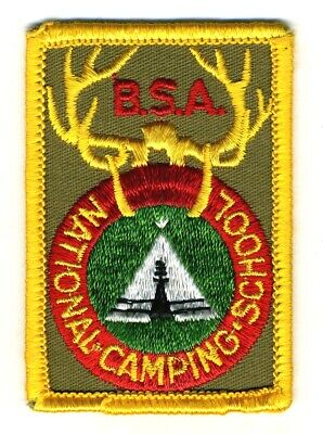 Vintage 1960's BSA NATIONAL CAMPING SCHOOL Boy Scouts Patch