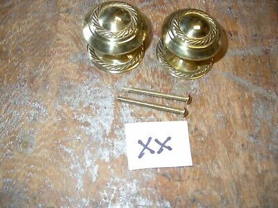 Large reproduction Georgian style brass knobs unused and with fixing screws (XX)