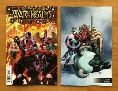 War Of Realms 4 2019 Arthur Adams  Main Cover + Aaron Kuder Variant Cover NM+