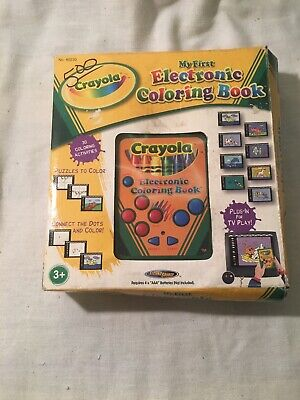 CRAYOLA ELECTRONIC COLORING BOOK Plug In TV Game - $3.00   PicClick