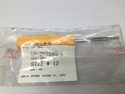 Pyle National TP-201049-1 Size No 12 Contact Insertion Tool, Amphenol Connector
