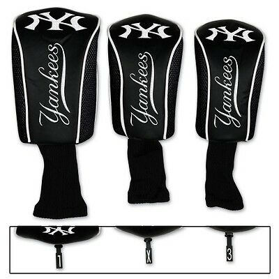Brand New MLB New York Yankees Embroidered Long Neck Golf Club Head Covers