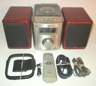 JVC FS-7000 Ultra Compact Mini AM/FM/CD Stereo Player Cherrywood with Remote!