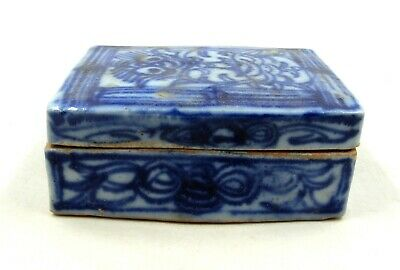 Authentic Ancient Chinese Republic Era Decorated Porcelain Box W/ Lid - B195