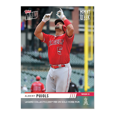 2019 Topps NOW MOW6 Albert Pujols Angels Moment of the Week 6