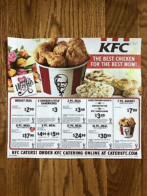 🍗27 Kentucky Fried Chicken KFC Restaurant Coupons BIG SAVINGS ~ Exp 7/7/19