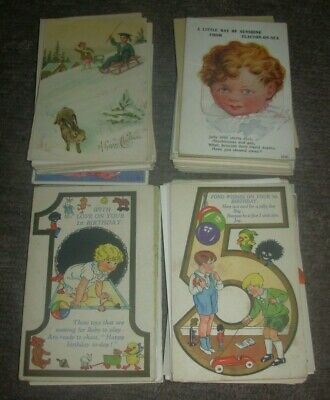 150 X Vintage Greetings Postcards Includes Novelty Excellent Lot
