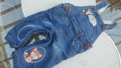 Baby Boy Jeans Trousers Nutmeg 6-9 Months Blue Grey Bottoms
