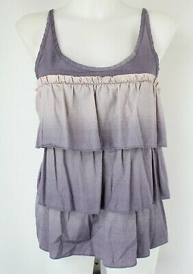 Marc Jacobs Grey & Purple Tiered Tank Top Size Small
