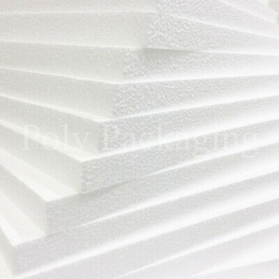 "6 x POLYSTYRENE EPS FOAM SHEETS 1200x600x50mm (47x24x2"")Expanded Poly Sheeting"