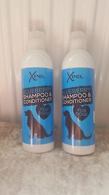 2 X Blueberry Dog Shampoo and Conditioner, pet shampoo, Shampoo and Conditioner