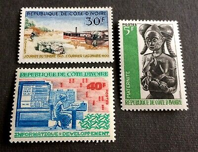 3 top mint stamps Ivory Coast