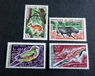 animals - 4 mint stamps Ivory Coast - with Michel No. 274 (1964)