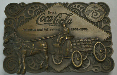 Coca Cola - Belt Buckle - 1901 to 1976 - Coke 75th Anniversary