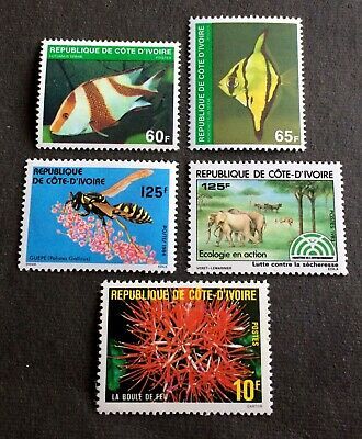 animals - 5 mint stamps Ivory Coast