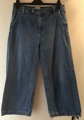 J Crew Rayner Wide Leg Cropped Jeans Size 29