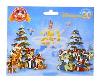Disney Character Christmas Authentic Trading Pin Set - 4 Total Pins - Brand NEW