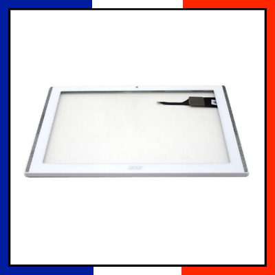 Vitre Tactile Avec Chassis Acer Iconia One 10 B3-A40 K2Am Blanc Avec Logo