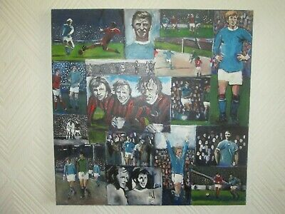 Man City MCFC 1970s Oil Painting Compilation Bell, Summerbee, Doyle, Law, Book