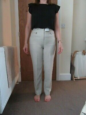 BNWT Marks & Spencer Cream chino look ladies trousers size 10 Eur38