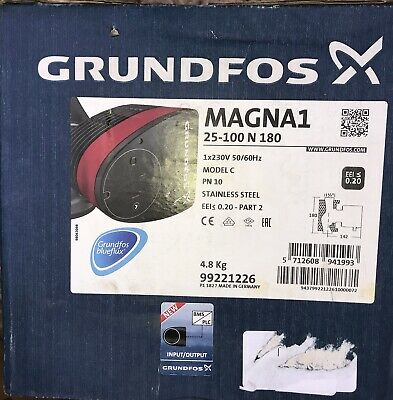 Grundfos MAGNA1 25-100 N Variable Speed Pump 240V Stainless Steel 99221226 #1499