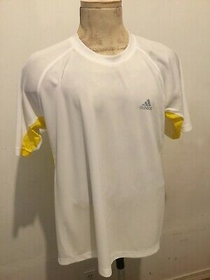 save up to 80% shoes for cheap best MENS LARGE L Adidas Climacool Clima365 Shirt White Jersey ...