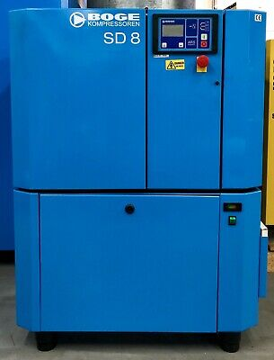 Boge SD8 Rotary Screw Compressor With Dryer 5.5Kw, 25Cfm, Low Hours! Immaculate!