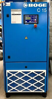 Boge C15 Rotary Screw Compressor 61Cfm! 11Kw, 15Hp Immaculate Order!