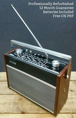 Hacker Hunter RP38A Vintage FM AM Portable Transistor Radio 70s Teak REFURBISHED