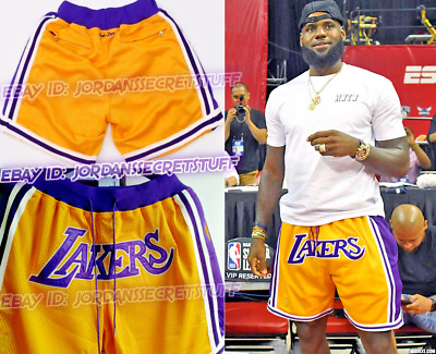 Los Angeles Lakers shorts Lebron James basketball big logo shorts xl