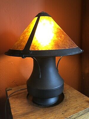 VIntage Mica Lamp Mission Arts & Crafts Art Deco Mica Table Lamp Mica Shade