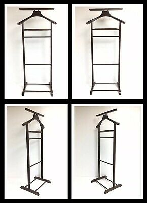 "New! Vintage Beachwood Valet Butler Suit Rack Made In Romania --  40"" X 18"" NOS"