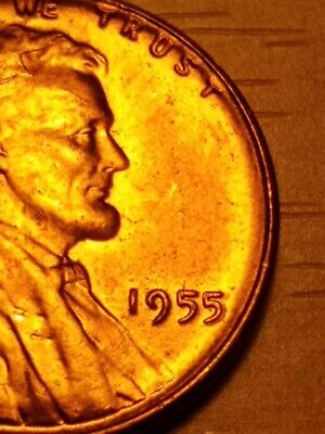 1955 Lincoln Wheat Penny Cent 1c - Poor Mans Double Die