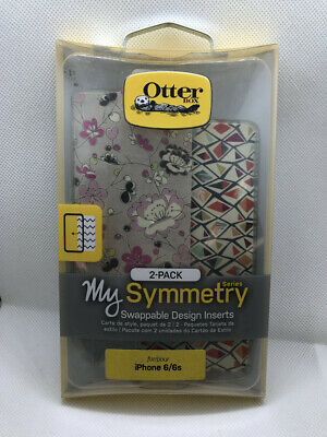 Otterbox My Symmetry Series 2-Pack Inserts for iPhone 6/6S-Pink Flowers-Mint