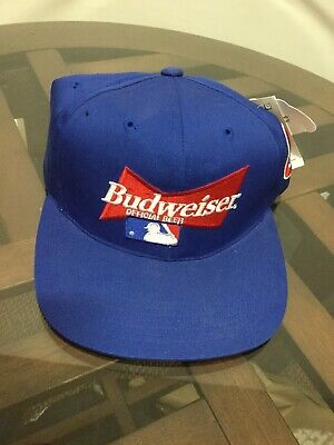 89c2391ea NWT Chicago Cubs Budweiser Blue Snapback Adjustable Hat Cap New With Tags