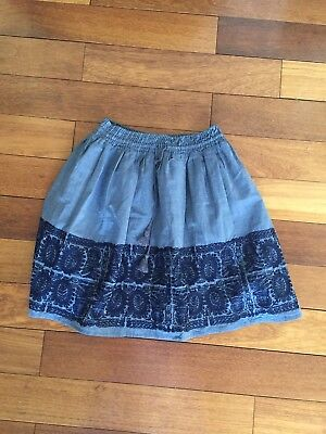 a92cbcbf7 J. Crew New With Tags Skirt Women's Size XS Blue Embroidered Pull On Sold  Out
