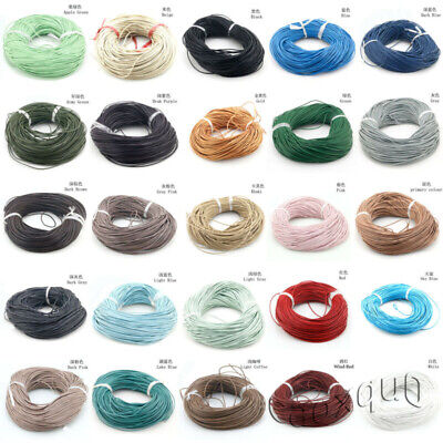 Real Jewelry Leather Bracelet Round 10m Cord 1.5/2/2.5/3/4/5/6/7/8mm Making