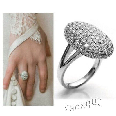 Hotsale Ring S925 Silver plated Jewelry  Engagement Wedding Ring Full drill