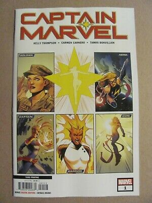 Captain Marvel #1 Marvel 2019 Series 3rd Print Variant 9.6 Near Mint+