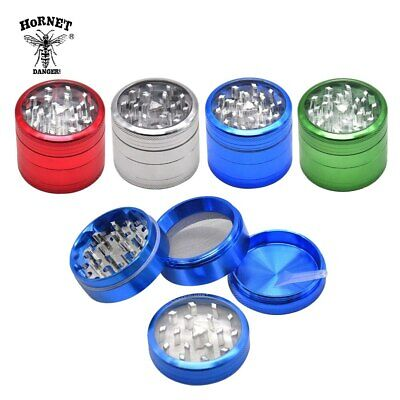 50MM 4 Piece Aluminum Clear Top Metal Tobacco Herb Grinders With Spice Catcher