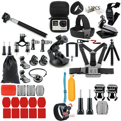 56 In 1 Go-Pro Accessories Hero6 5 4 3 Bundle Camera Outdoor Sports Set Kit T0M2