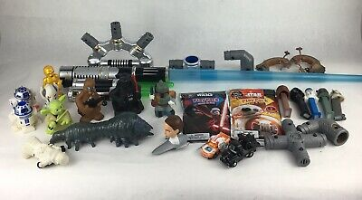 Star Wars Lot of 25 Assorted Figures Weapons Promo Items