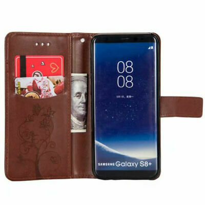 Wallet Stand Flip Leather Phone Case Cover For Samsung Galaxy S9 S8 S7 S6 Holder