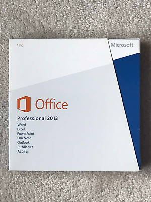 Microsoft Office 2013 Professional 1 PC License with DVD Factory Sealed