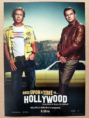 ONCE UPON A TIME IN HOLLYWOOD (2019) DiCaprio B. Pitt Movie Mini Poster Japan