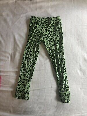 Mini Rodini Green Leopard Print Pants Size 1.5-3 years