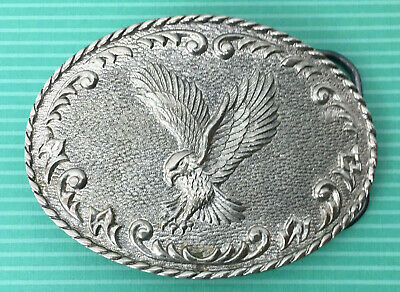 Vintage Solid Brass Belt Buckle Free as a Bird Flying Eagle