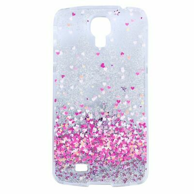 For Samsung Galaxy S4 Hard Case, Liquid Case 3D Flowing Case Clear Glitter X5Q6